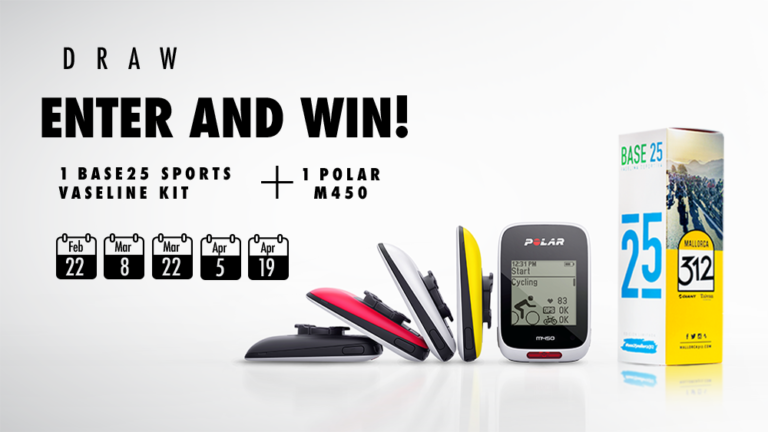 Enter the draw for Base25 limited edition vaseline and a Polar M450. 5 prizes to be won!